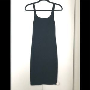 Zara Black Midi Bodycon Dress